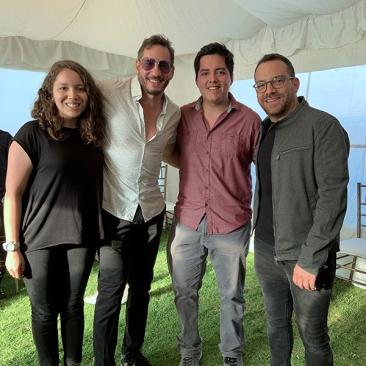 Con AU-D y Juan Fernando Velasco