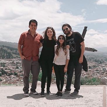 Con Héctor, Pau y Miguel en Guano
